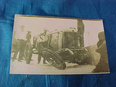 1915 INDIANAPOLIS 500 Auto RACE WRECK Real Photo POSTCARD John DePalma