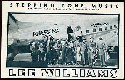 STEPPING TONE MUSIC LEE WILLIAMS AMERICAN AIRLINES POSTCARD - GETTYSBURG, SD