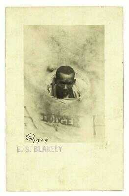 RARE 1909 Black American Historical RPPC African Dodger Carnival Game ES BLAKELY