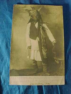 1906 GERONIMO APACHE INDIAN CHIEF Real Photo POSTCARD
