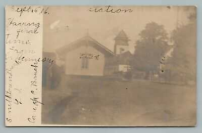 Smithtown Branch NY Train Station RPPC Antique Long Island Railroad Depot Photo