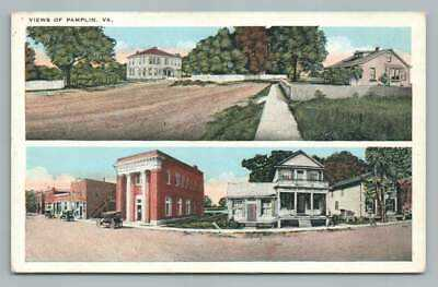 Pamplin Virginia W.E. BURGESS Antique Appomattox County Scottsville Pub 1910s