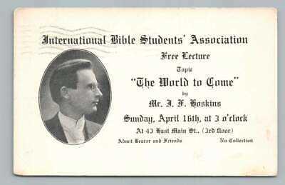 "International Bible Students Association ""World to Come"" Hoskins WATERBURY CT"