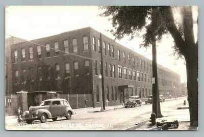 International Harvester Co CANTON Illinois RPPC Vintage Factory Photo~Hunting 43