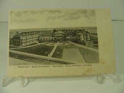 PRE1906 UNDIVIDED BACK VIEW OF GULF & GREAT SOUTHERN HOTEL, GULFPORT, MISS