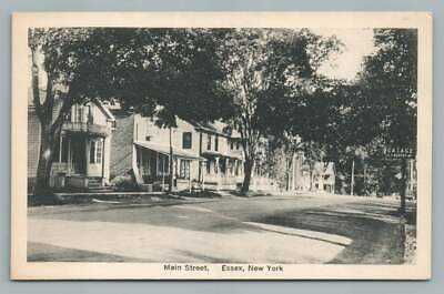 Main Street ESSEX New York~Lake Champlain Vintage Postcard ca. 1930s