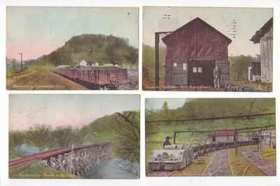 19 Different 1909 Post Cards views of Coal Mining Ghost Town of RAYMOND CITY. WV