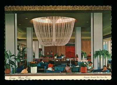 Postcard Disneyland Lounge In The Marina Tower Magic Kingdom. U