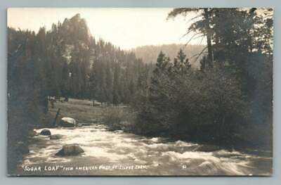 Sugar Loaf SILVER FORK California RPPC American River LAKE TAHOE Kyburz Photo
