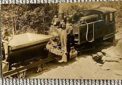 Waterbury, Vt. An Unusual Real Photo of a Eastern Talc Company Train Engine