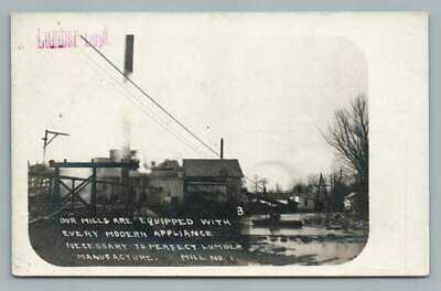 Lumber Mill Equipment Advertising RPPC Morehouse MO Himmelberger-Harrison Photo