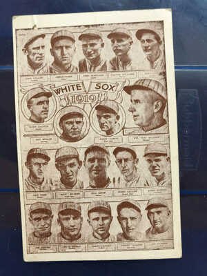 1919 Chicago White Sox Black Sox Team Photo Collage Postcard
