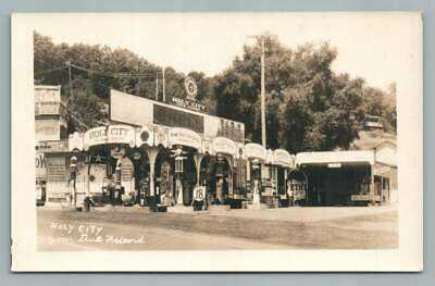 Holy City Gilmore Gas Station RPPC Santa Clara County Santa Cruz Roadside Photo