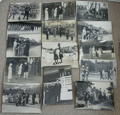 14 1930s PHOTOS OF GOVERNOR SIR WILLIAM PEEL KINGS STUDIO QUEENS RD HONG KONG