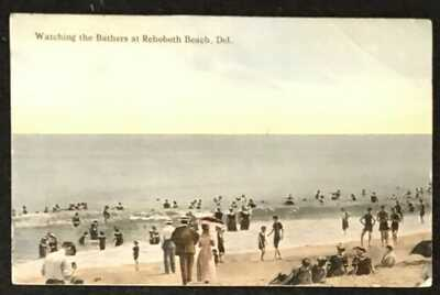 WATCHING THE BATHERS AT REHOBOTH BEACH, PUBLISHED BY LOUIS KAUFMANN