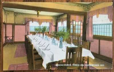 FRENCH LICK, INDIANA: Gorge Inn, Dining Room Interior View ca1919