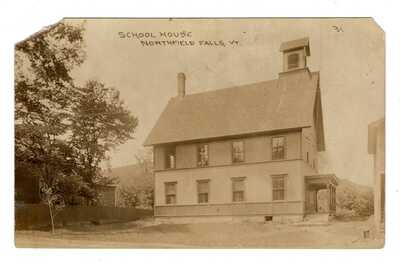 Northfield Falls Vermont School House Real Photo Postcard RPPC