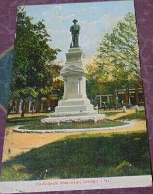 Confederate Monument, Covington, Ga. postcard
