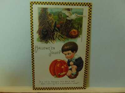 Vintage Embossed Halloween Postcard winsch