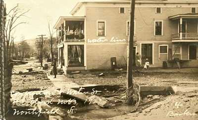 Northfield, Vt. An 1927, Undivided Back RP of Flood Scene in Northfield, Vermont