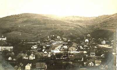 Northfield, Vt. A 1913, Real Photo of Bird's Eye View of Northfield, Vermont