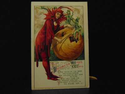 HALLOWEEN POSTCARD, JOHN WINSCH, SAMUEL SCHMUCKER, COPYRIGHT 1911