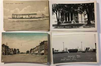 Twenty Storm Lake Iowa RPPC (15) and litho (5) postcards 20 pieces lot