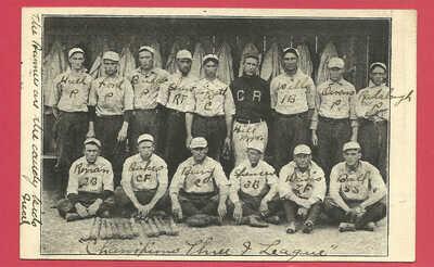 """Baseball team B&W PC: Cedar Rapids (Iowa) """"Rabbits"""", Three-I League - 1906"""