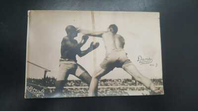 Vintage Original Jack Johnson James Jim Jeffries Boxing Postcard. Dana Photo. #3