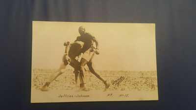 Vintage Boxing Postcard: Jack Johnson James Jeffries. Dana Photo. 1910 Reno. #15