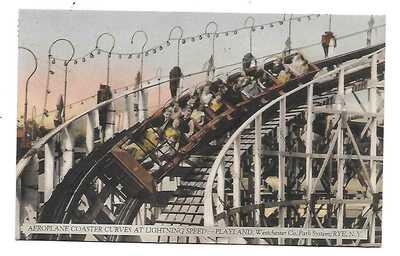 Rye, NY - Amusement Park Roller Coaster