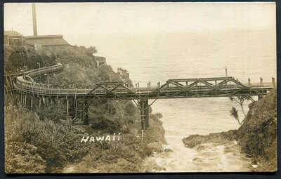 HAWAII,RAILWAY LINE & BRIDGE LEADING INTO SUGAR MILLUN,RP,