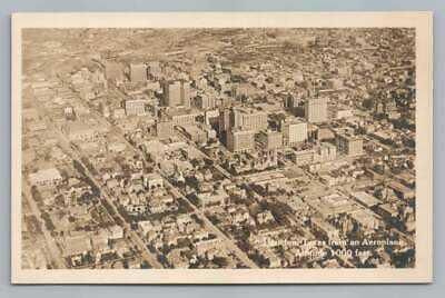 Houston Texas Skyline RPPC Rare Antique Aerial Airplane Buildings Photo~1920s?