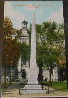Confederate Monument and Court House, Decatur, Ga. Postcard