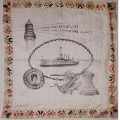 Great White Fleet Silk In Remembrance Of Our Visit To China Japan &Philippines