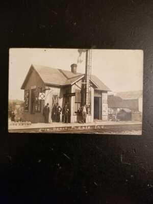 Preble Indiana Adams County Erie Railroad Depot Station Decatur Fort Wayne Rppc