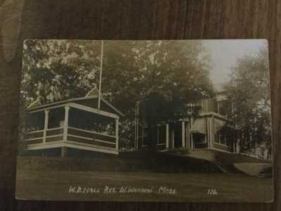 W.B. Hall Res. West Warren, Mass, MA, RPPC, Real Photo