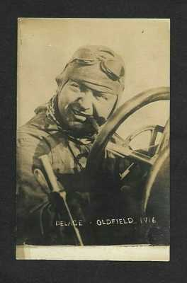 Barney Oldfield Automobile Racing Legend: Original Postcard 1916. (See Details).