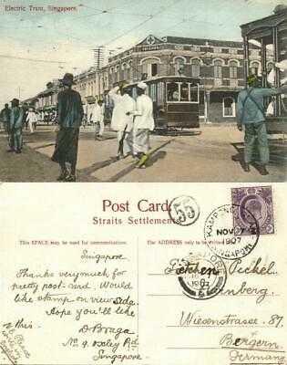 straits, Malay Malaysia, PENANG, Electric Tram (1907) Kampong Glam Cancel