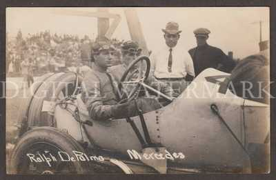 RPPC 1912 Mercedes Race Car Driver Ralph Depalma & Tom Alley Milwaukee WI