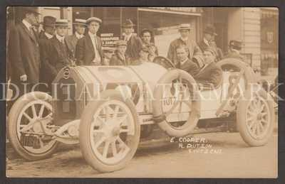 RPPC Tacoma WA 1914 Stutz Race Car Driver Earl Cooper & Reeves Dutton
