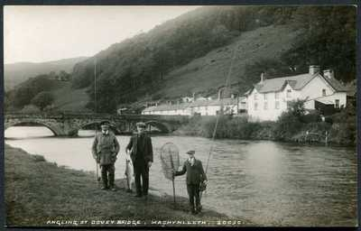 Anglers Fishermen Dovey Bridge Machynlleth, Dyfi:  RP # 20090 by George & Son