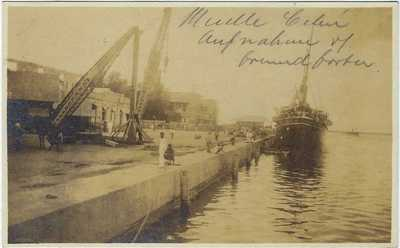 Philippines 1911 photographic postcard Cebu Docks used Cebu to Switzerland