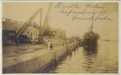 Philippines 1911 photographic postcard Cebu Docks used Cebu to Switzerland
