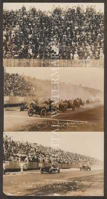 RPPC 1914 Auto Racing at Tacoma WA Action 3 Cards V.Fine/Fine Cond.