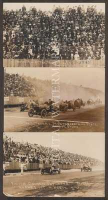 RPPC 1914 Auto Racing at Tacoma WA Action 3 Cards V.Fine/Fine Cond.