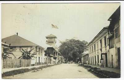 Philippines 1910 photographic untitled card to Switzerland