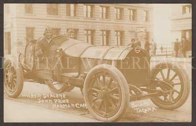 RPPC Super 1914 Tacoma WA Marmon Auto Racing  Fine Cond.