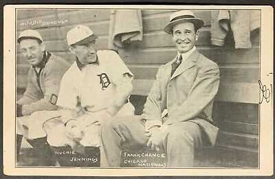 1909 H.M. Taylor Detroit Baseball Photo Postcard RPPC Jennings Chance Wild Bill