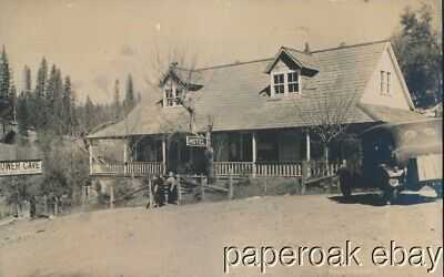 ca1915  Bower Cave Hotel Mariposa Co., California Pillsbury Photo Postcard